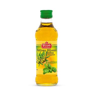 Natives Olivenöl extra, kaltgepresst, Basilikum 100ml